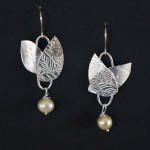 Silver, Pearl and Surgical Steel Hook - $60