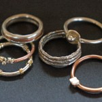 Silver, Copper and 18K Gold - $50 to $95/each