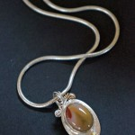 Mokalite, Silver and 18K Gold  -  $195