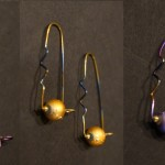 Glass Bead and Niobium (Hypoallergenic) Hook - $35/each pair