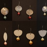 Silver, Pearl and Surgical Steel Hook - $40/each pair