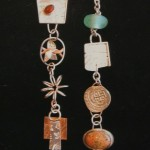 Silver, Copper, Carnelian (left), Beryl (right), Coin (right), Glass (right) - $195/each