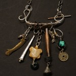 Silver, Copper, Brass, Glass Bead, Bone, and Coin - $195